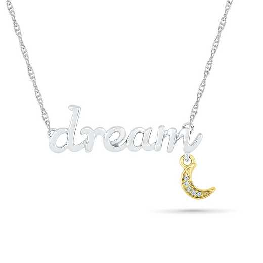 NQ079688AXY: 10KYG TT DIA ACCNT DREAM NECKLACE