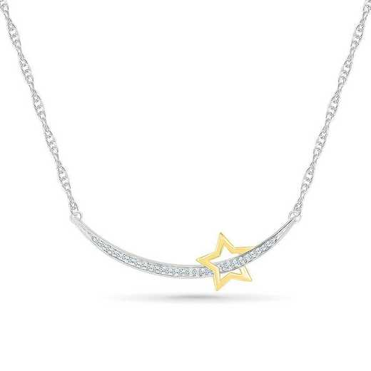 NQ083668BXY: STERLING SILVER AND 10KT YG WITH DIA ACCENT FASHION NECKLACE