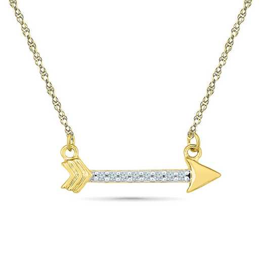 NQ200541AAY: DIA ACCNT ARROW NECKLACE