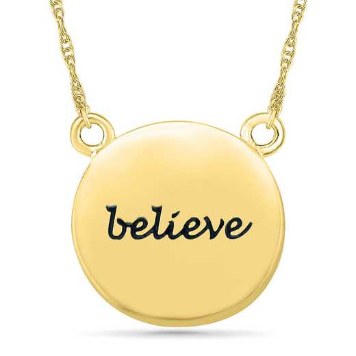 NW201510AAY: DIA ACCNT BEZEL BELIEVE NECKLACE