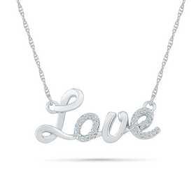 Silver Necklace Heart Love with 2 stones Amber cognac and silver 9251000 rhodi\u00e9 Nature