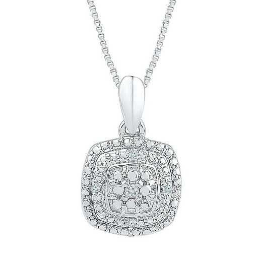 PF073522AAW: STERLING SILVER WITH DIAMOND ACCENT FASHION PENDANT