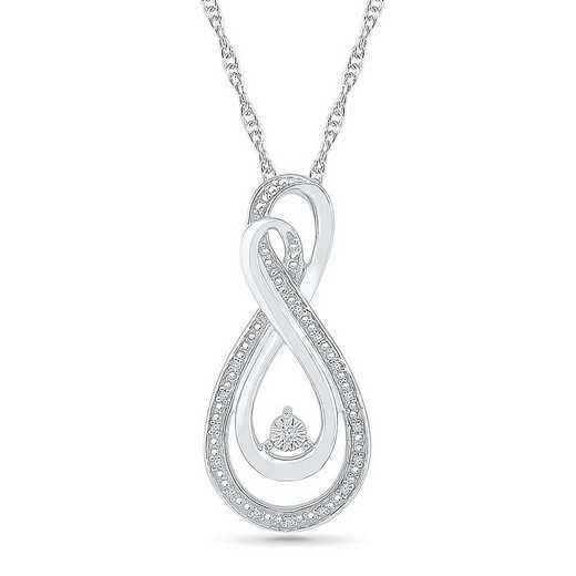 PF075951AAW: STERLING SILVER WITH DIAMOND ACCENT FASHION PENDANT