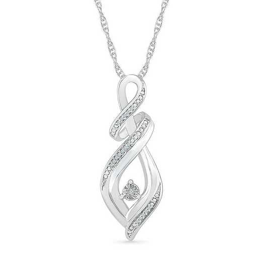 PF075962AAW: STERLING SILVER WITH DIAMOND ACCENT FASHION PENDANT