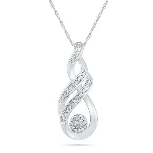 PF082844AAW: STERLING SILVER WITH DIAMOND ACCENT FASHION PENDANT