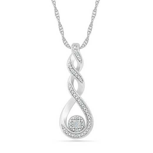 PF082845AAW: STERLING SILVER WITH DIAMOND ACCENT FASHION PENDANT
