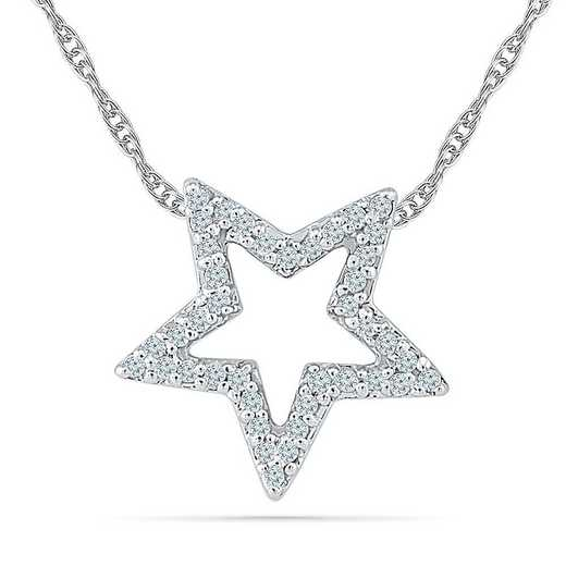 PQ202051CAW: STERLING SILVER WITH DIAMOND 1/8CTTW FASHION PENDANT