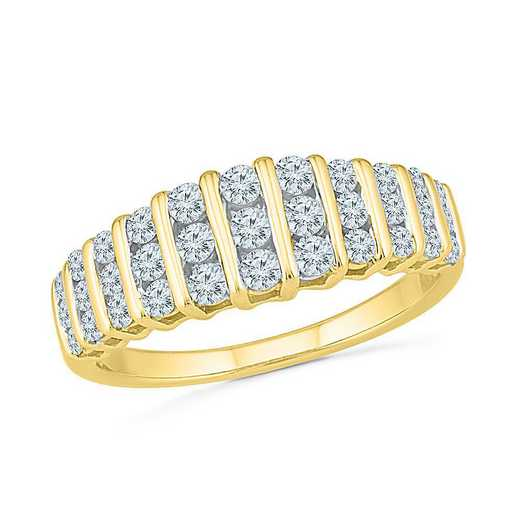 10KT YELLOW GOLD WITH 3/4CTTW DIAMOND FASHION RING