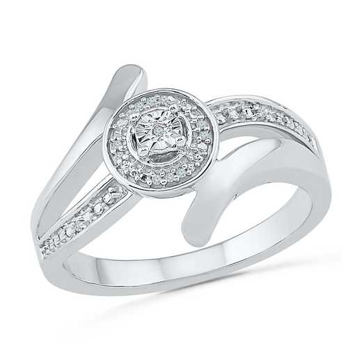 Sterling Silver Diamond Accent Fashion Ring