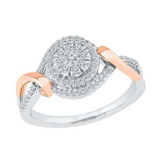 SS & 10KT RG WITH 1/3CTTW DIAMOND FASHION RING
