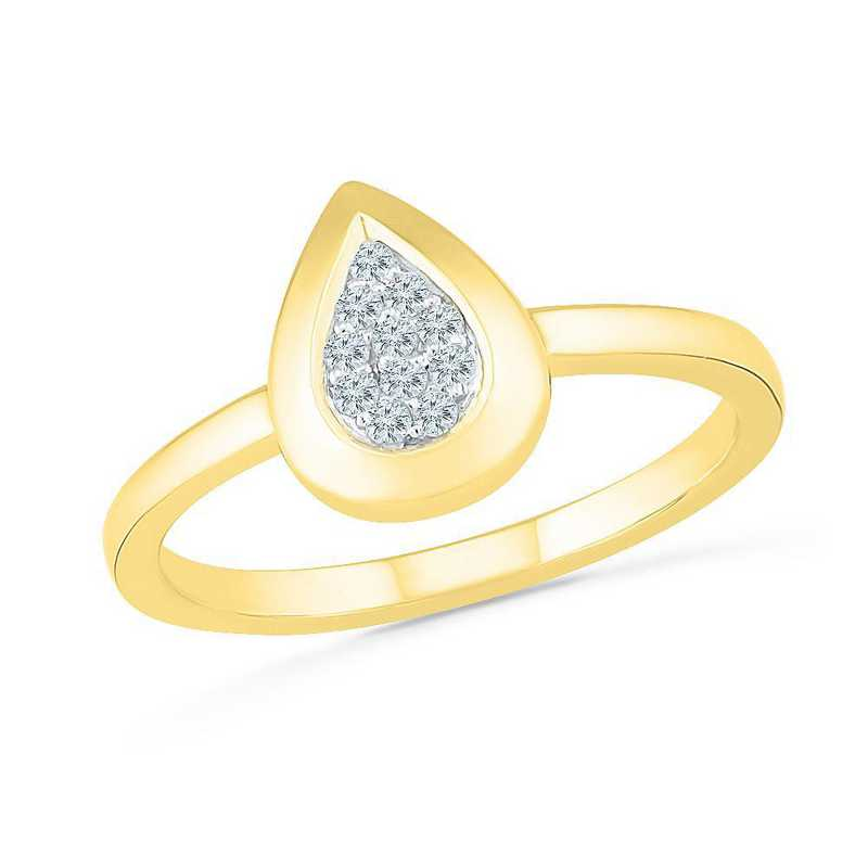 10K Yellow Gold Diamond Accent Fashion Ring