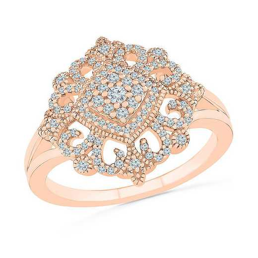 10KT ROSE GOLD WITH 1/4CTTW DIAMOND FASHION RING