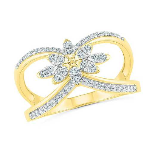 10KT YELLOW GOLD WITH 1/3CTTW DIAMOND FASHION RING