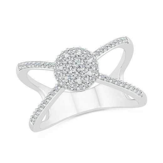STERLING SILVER WITH 1/3CTTW DIAMOND FASHION RING