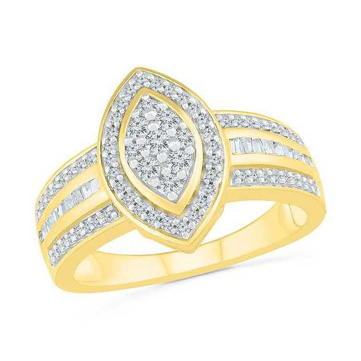 10KT YELLOW GOLD WITH 1/2CTTW DIAMOND FASHION RING