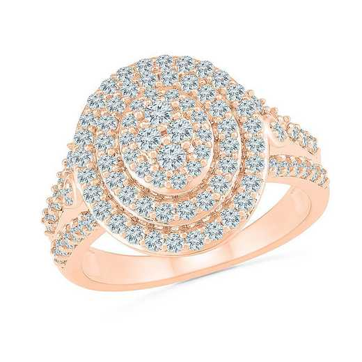 10KT ROSE GOLD WITH 1CTTW DIAMOND FASHION RING