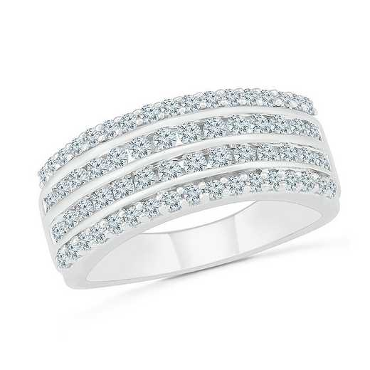STERLING SILVER WITH 1CTTW DIAMOND FASHION RING