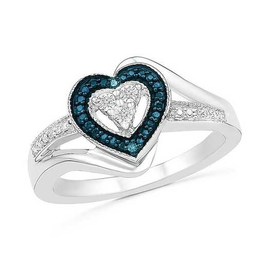 Sterling Silver With Diamond Accent Heart Ring