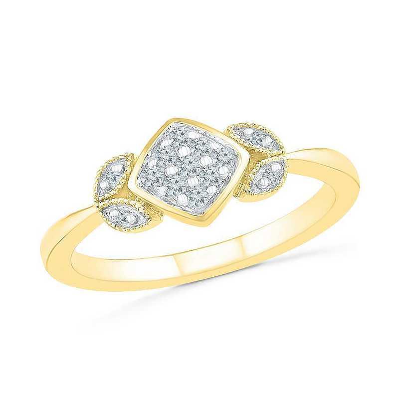 10K Yellow Gold 1/10 CT.TW. Diamond Promise Ring