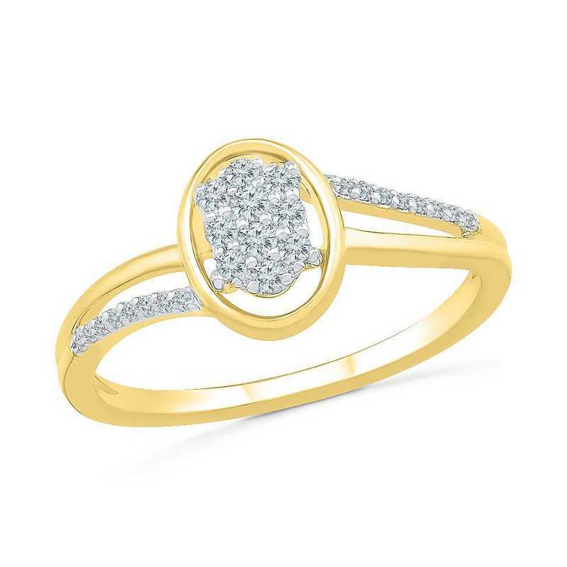 10K Yellow Gold 1/6 CT.TW. Diamond Promise Ring