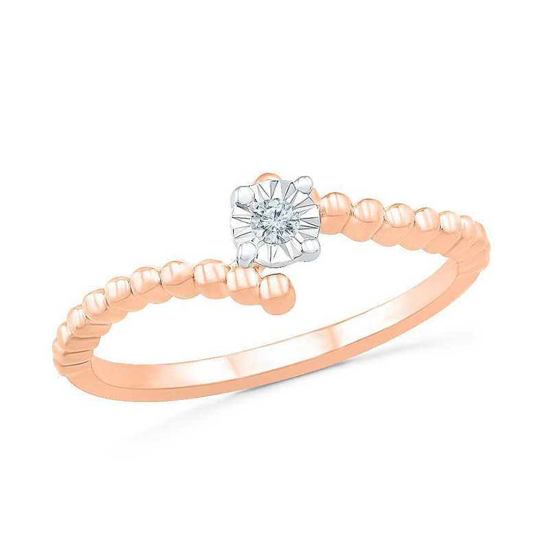 10K Rose Gold Diamond Accent Promise Ring