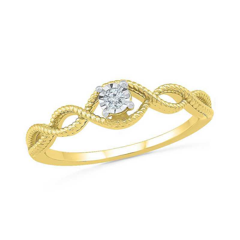 10K Yellow Gold Diamond Accent Promise Ring