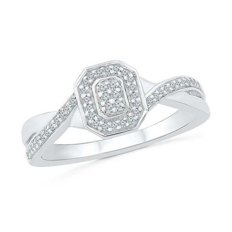 10K White Gold 1/6 CT.TW. Diamond Promise Ring