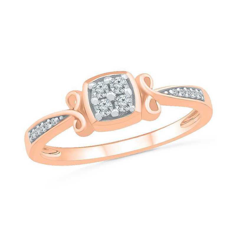 10K Rose Gold 1/8 CT.TW. Diamond Promise Ring