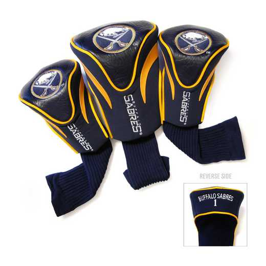 13294: 3 PKContour Head Covers Buffalo Sabres