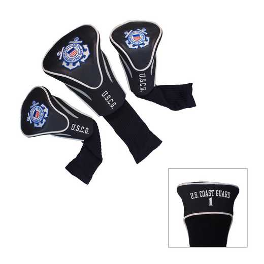 19994: 3 PKContour Head Covers Us Coast Guard