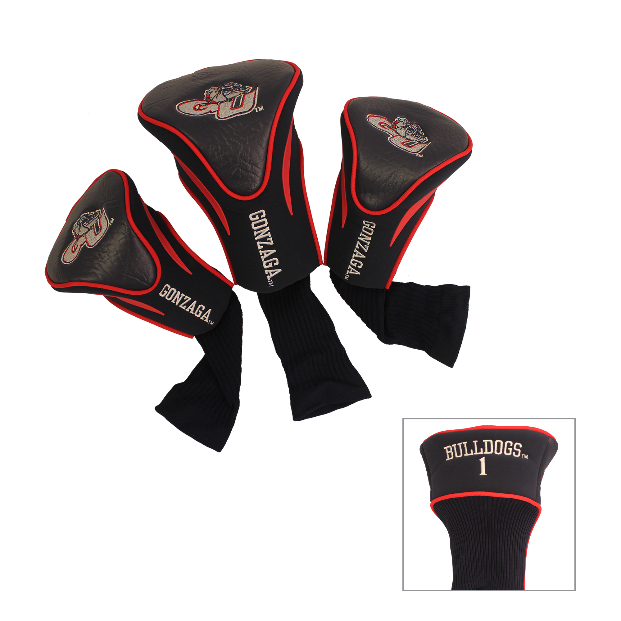 3 Pack Contour Golf Head Covers Gonzaga