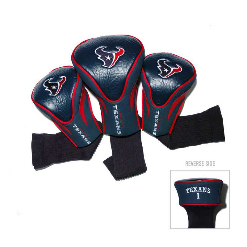 31194: 3 PKContour Head Covers Houston Texans