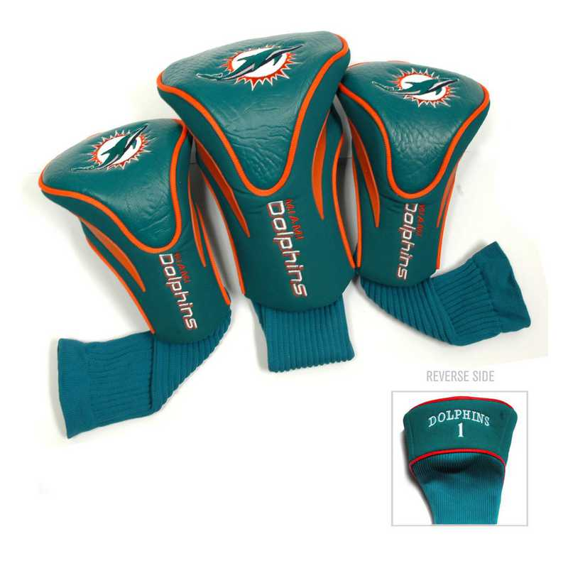 31594: 3 PKContour Head Covers Miami Dolphins