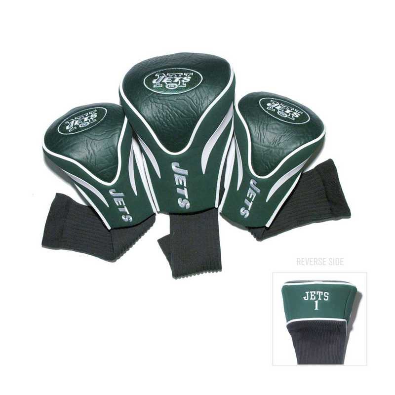 32094: 3 PKContour Head Covers New York Jets