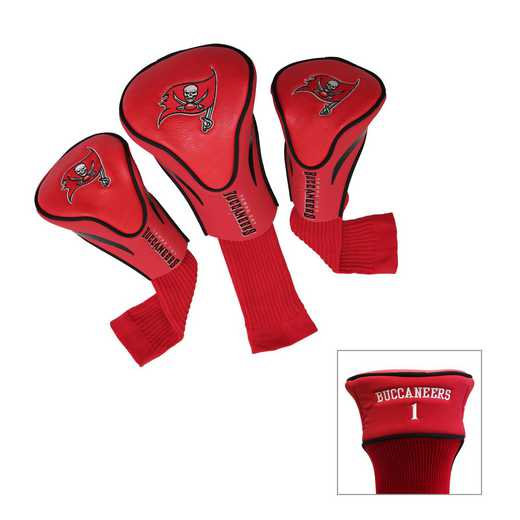 32994: 3 PKContour Head Covers Tampa Bay Buccaneers