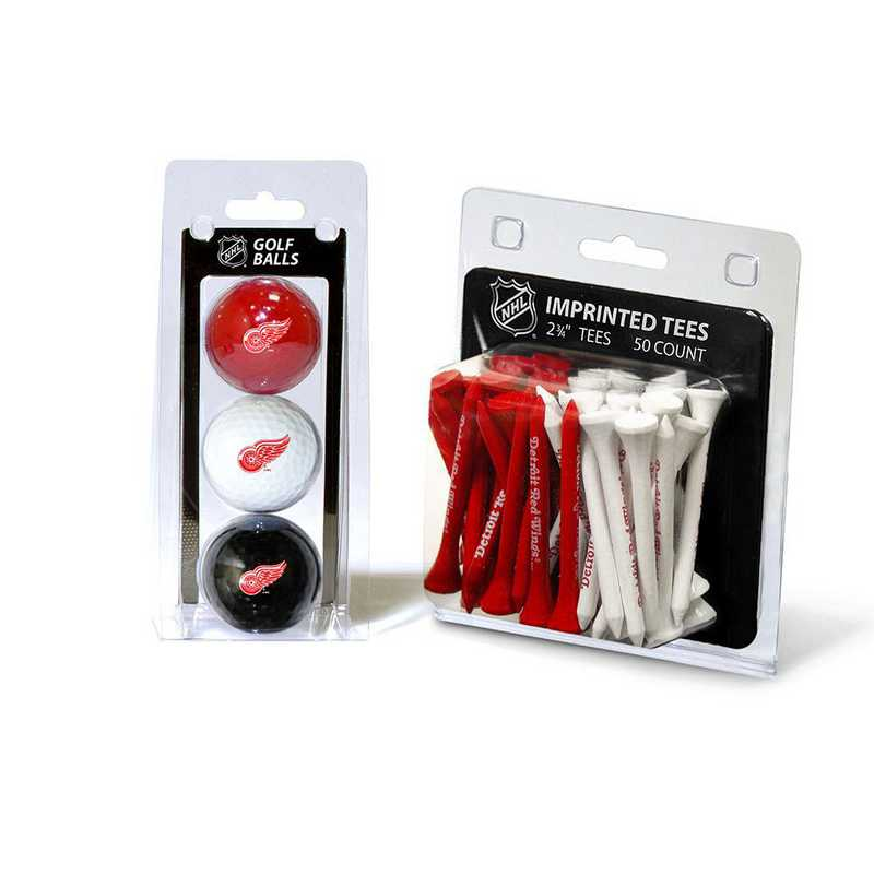 13999: 3 Golf Balls And 50 Golf Tees Detroit Red Wings
