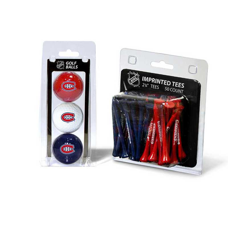 14499: 3 Golf Balls And 50 Golf Tees Montreal Canadiens