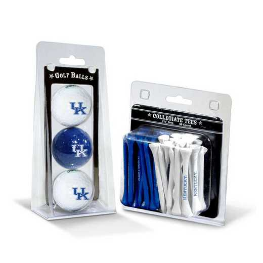 21999: 3 Golf Balls And 50 Golf Tees Kentucky Wildcats