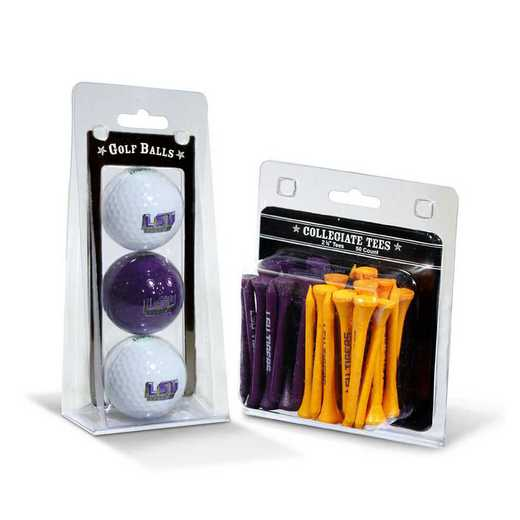 22099: 3 Golf Balls And 50 Golf Tees LSU Tigers
