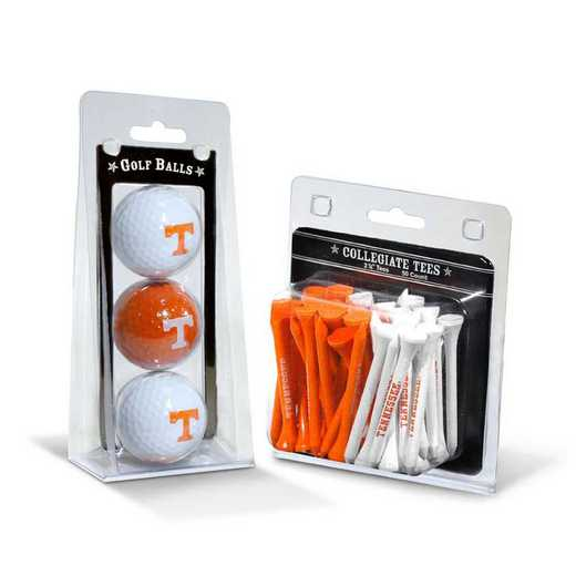 23299: 3 Golf Balls And 50 Golf Tees Tennessee Volunteers