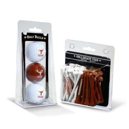 23399: 3 Golf Balls And 50 Golf Tees Texas Longhorns
