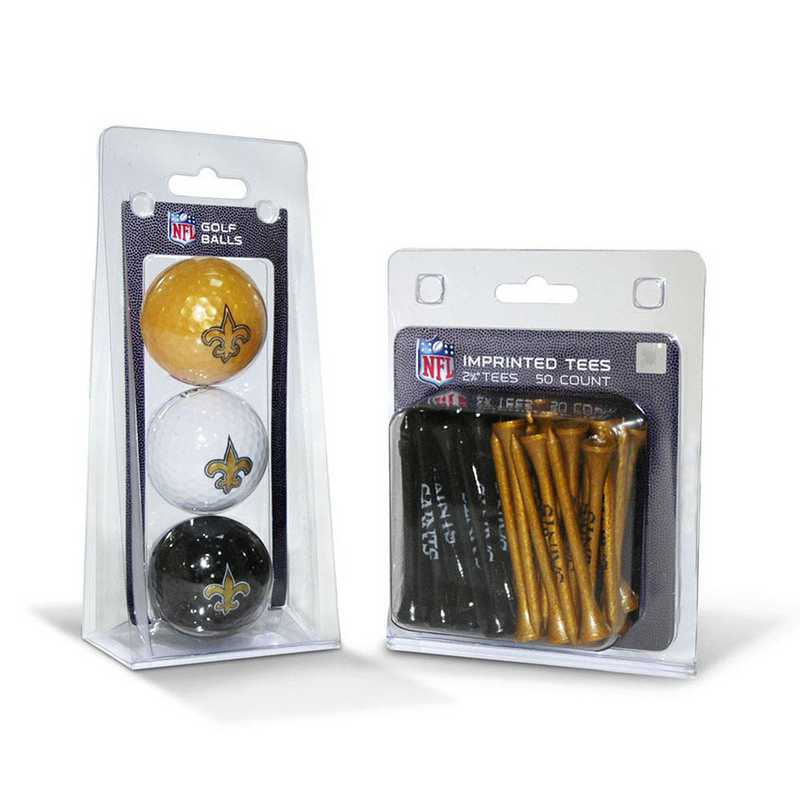 31899: 3 Golf Balls And 50 Golf Tees New Orleans Saints