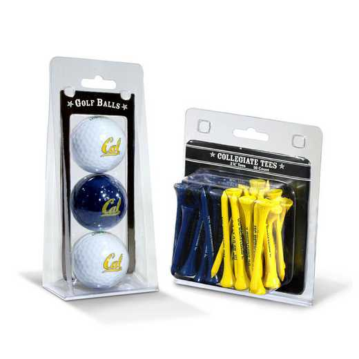 47099: 3 Golf Balls And 50 Golf Tees Cal Bears