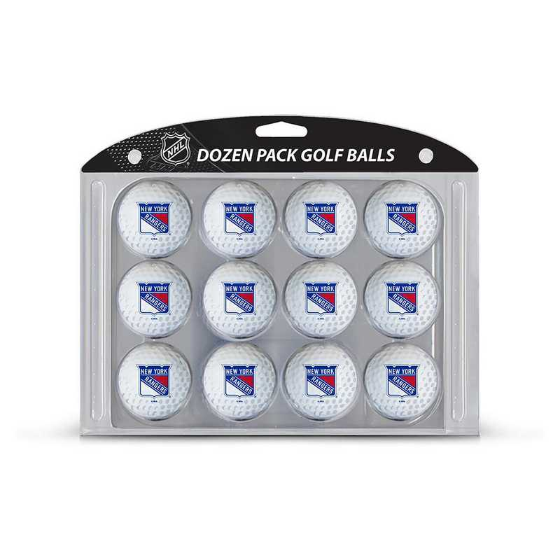 14803: Golf Balls, 12 Pack New York Rangers