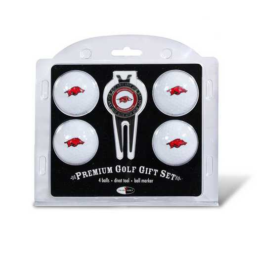20406: 4 Golf Ball And Divot Tool Set Arkansas Razorbacks
