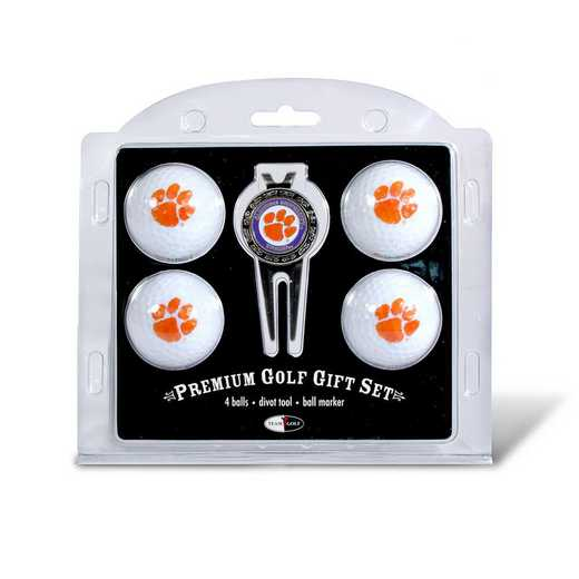 20606: 4 Golf Ball And Divot Tool Set Clemson Tigers