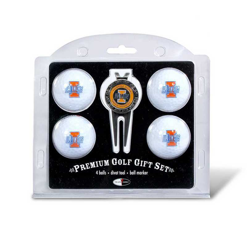 21306: 4 Golf Ball And Divot Tool Set Illinois Fighting Illini