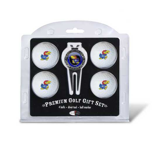 21706: 4 Golf Ball And Divot Tool Set Kansas Jayhawks