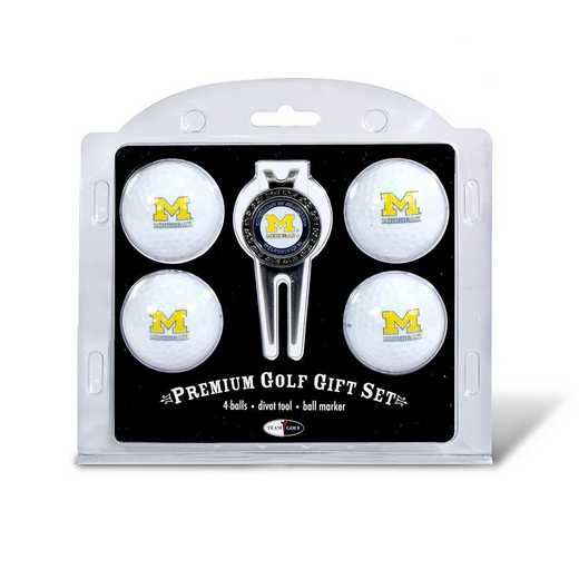22206: 4 Golf Ball And Divot Tool Set Michigan Wolverines