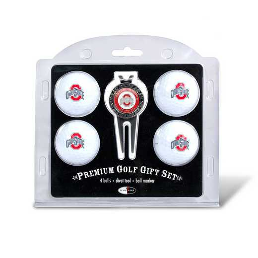 22806: 4 Golf Ball And Divot Tool Set Ohio State Buckeyes